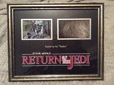 star wars return of the jedi screen worn ewok teebo fur display piece