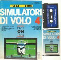 SIMULATORI DI VOLO 4° Commodore 64 e 128 C64 C128 Videogioco con Manuale