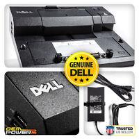 Dell E-Port Docking Station Replicator M6800 E5450 E5550 E7440 +PA-4E AC Adapter