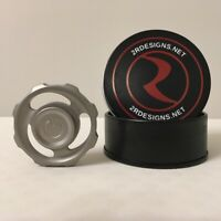 2R Designs Circular Fidget Spinner Stainless Steel Blasted Finish r188 bearing