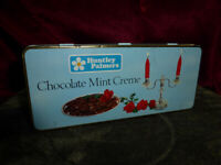 Retro HUNTLEY PALMERS Chocolate Mint Creme Vintage Tin Confectionery Food Advert