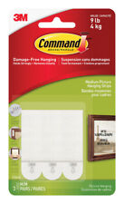 3M Command Medium Picture Hanging Adhesive Strips 2-3/4in L Foam 3 lb per Set 6