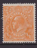 AUSTRALIA KGV 1/2d Orange CofA WMK MINT/MH SG 124  (LC46.2)