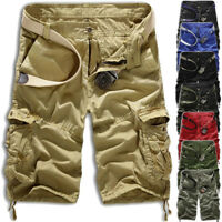 Men Military Combat Camo Cargo Shorts Pants Work Casual Army Trouser Quality NEW