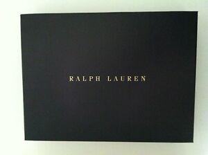 "POLO RALPH LAUREN NAVY GIFT BOX SIZE: 13 1/2""X 10""X 2"""