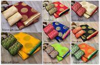 Sari Bollywood Wedding Indian Saree Ethnic Wear Designer Sari Blouse New SC