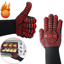 1 Pair Extreme Heat Resistant Gloves BBQ Grilling Cooking Oven Gloves Mitts 932℉