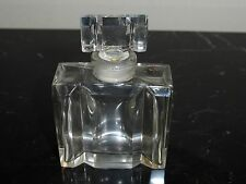 """Vintage Glass Perfume Bottle with Glass Stopper 3"""""""