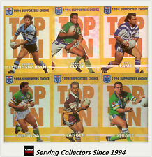 1994 Dynamic Rugby League Series 2 Supporters Choice Gold Card Set(10)-RARE