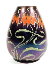 Frhr. de Poschinger Jugendstil Art Nouveau jarrón de cristal ° ORIG. no un vidrio réplica
