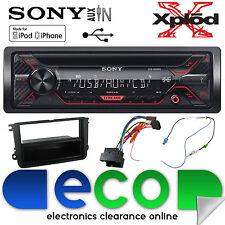 VW Caddy 03-15 Sony CDX-G1200U CD MP3 USB Aux Iphone Car Radio Stereo Kit