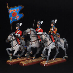 Tin soldier, The 2nd Royal Scots Grays Dragoons Regiment set of 3, 54 mm