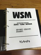 Heavy equipment parts accessories for kubota ebay kubota zd18 zd21 zd28 mower workshop service repair manual binder fandeluxe