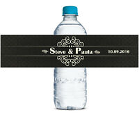 Print Wedding Water Bottle Labels Custom Waterproof Self Adhesive Sticker-WBL-37