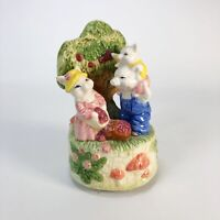 """pig family ceramic music box that plays """"In the good old summertime"""""""
