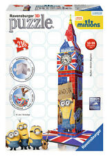 Ravensburger The Minions Movie Big Ben 3d Jigsaw Puzzle 216 Pcs