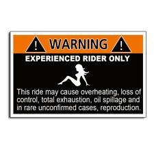 Experienced Rider Funny Warning Sticker Decal Off Road Car JDM Window Bumper 4x4
