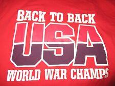 Usa Olympics Dream Team Basketball Back to Back World War Champs (Med) T-Shirt