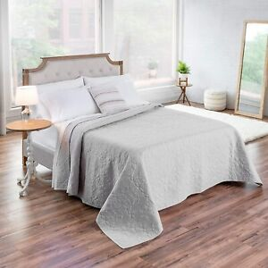 AIDAN Coverlet Embroidered 100% Cotton Shell / 100% Polyester Fill - Size King