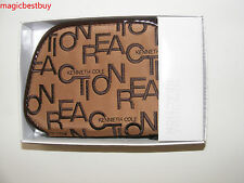 Brand New Authentic Kenneth Cole Women's Brown Zip Around Wallet In Original Box
