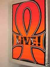 "Unk Vintage ""Peace"" Anti-War Poster Blacklight ""Live"""
