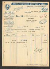 "TOULOUSE (31) OXYGENE ACETYLENE AZOTE CARBURE de CALCIUM ""DUFFOUR & IGON"" 1932"