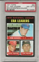 1971 TOPPS #68 NL ERA LDRS,  PSA 8 NM-MT, TOM SEAVER, HOF, NEW YORK METS, L@@K