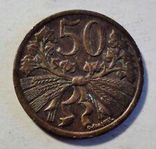 Tschechoslowakei / Czechoslovakia - 50 Heller 1947 - fast st / near unc