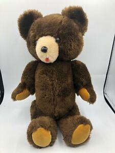 Vintage R Dakin Brown Teddy Bear Plush Stuffed Toy Animal Jointed Posable Limbs