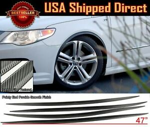 2 Pairs Flexible Slim Fender Flare Extension 3D Carbon Protector Trim For Ford