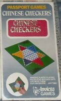 GIOCO VINTAGE TASCABILE POCKET BOARDGAME-PASSPORT INVICTA GAMES,CHINESE CHECKERS