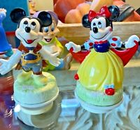 Disney Schmid Prince Charming Mickey and Minnie Mouse  Musical Figurine (Set 2)