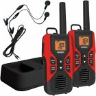 UNIDEN GMR3055-2CKHS 30-Mile 2-Way FRS/GMRS Radios W/Headsets & Charging Kit Red