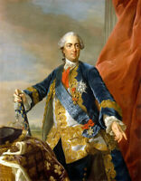 Louis XV King of France portrait oil painting Canvas Giclee Art Print L2189