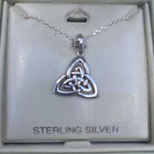 Solvar Sterling Silver Celtic Trinity Knot Necklace 18 Inch S.44551