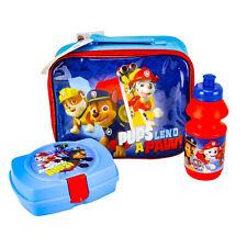 Nickelodeon Patrol Kid Lunch Set School Bag Boys Blue Pups Lend A Paw