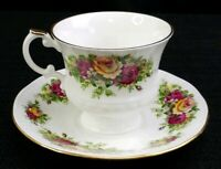 Elizabethan Staffordshire Saucer And Tea Cup Bone China Hand Decorated England