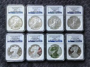 2012  -NGC 70 FIRST RELEASES FULL SET -8 coins set