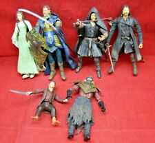 Lord of the Rings Figure Lot of 6 Frodo Aragorn Loose Figures ToyBiz lotr 5356