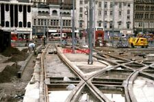 PHOTO  1991 METROLINK CONSTRUCTION MANCHESTER DELTA JUNCTION THE NEWLY-LAID METR