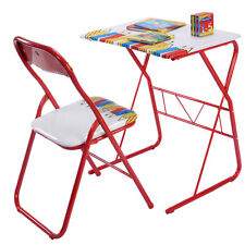 Table Chairs Set Kids Study Writing Lovely Home School Folding Children New