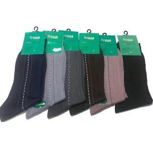 Mens Silky Socks Soft Deodorant Cheap Long Socks Multi Colours Multi Pairs 6-11