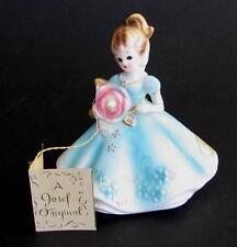 Vintage Josef Originals June Pearl Birthstone Girl Figurine Japan +orig hang tag