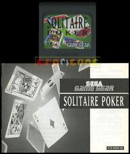 SOLITAIRE POKER Game Gear Versione Europea ••••• CARTUCCIA E MANUALE