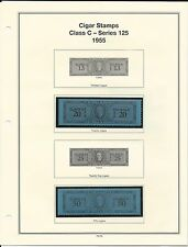 U. S. Revenue Cigar Stamps Class C & D - Series 125, 1955 PRISTINE (LN111)