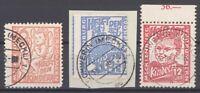 SBZ Mi.Nr. 26-28, Freimarken 1945 gestempelt, geprüft BPP (28557)
