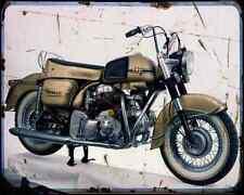 DUCATI Berliner Apollo 1 A4 Metal Sign moto antigua añejada De