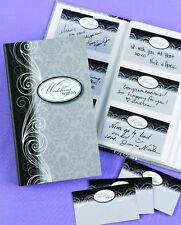 84 Wedding Guest Wish / Wishes / Wishing Cards & 1 Damask Keepsake Book