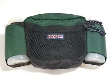 90s JanSport Hiking Green Fanny Pack Waist Water Bottle holder Vintage 2 pockets