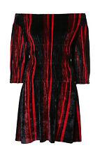 NWT $650 Sonia Rykiel Off-shoulder Velvet Dress, size S